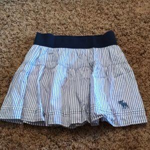 a&f blue striped skirt